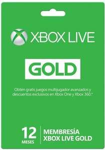 Amazon MX: Membresía Xbox Live Gold 12 meses a $599