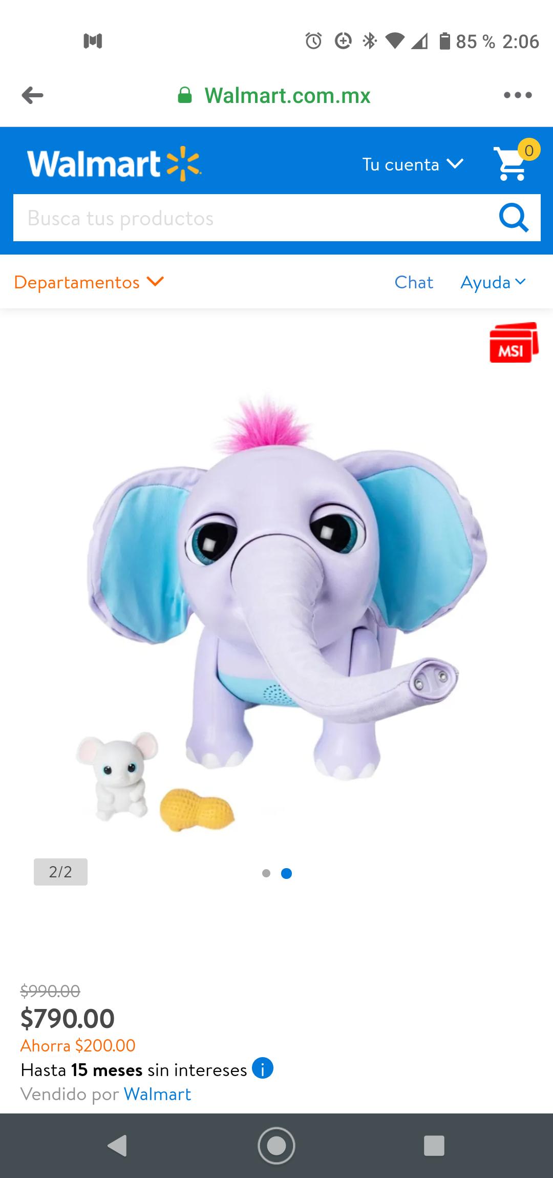 Walmart: Muñeco Interactivo Spin Master Juno Bebé Elefante