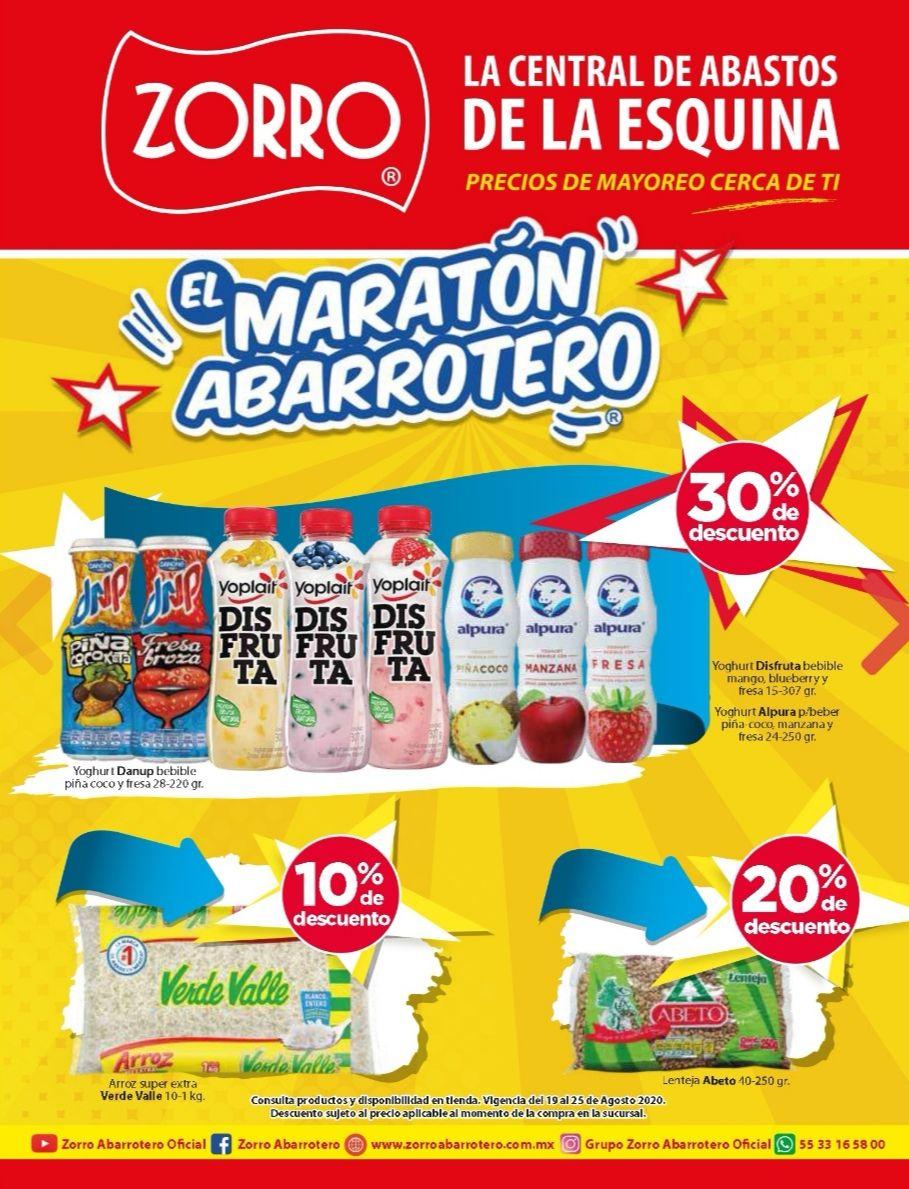 """Zorro: 11° Folleto de Ofertas Semanal """"El Maratón Abarrotero"""" al Martes 25 de Agosto"""