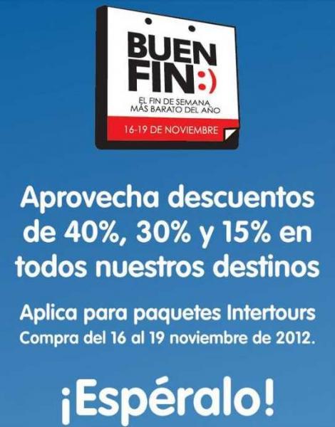 Ofertas del Buen Fin en Interjet: descuentos del 15 al 40% y otras aerolíneas.