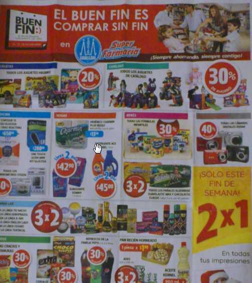 Ofertas del Buen Fin en Farmacias Guadalajara: 30% en todas las fórmulas infantiles, 40% en cámaras y +