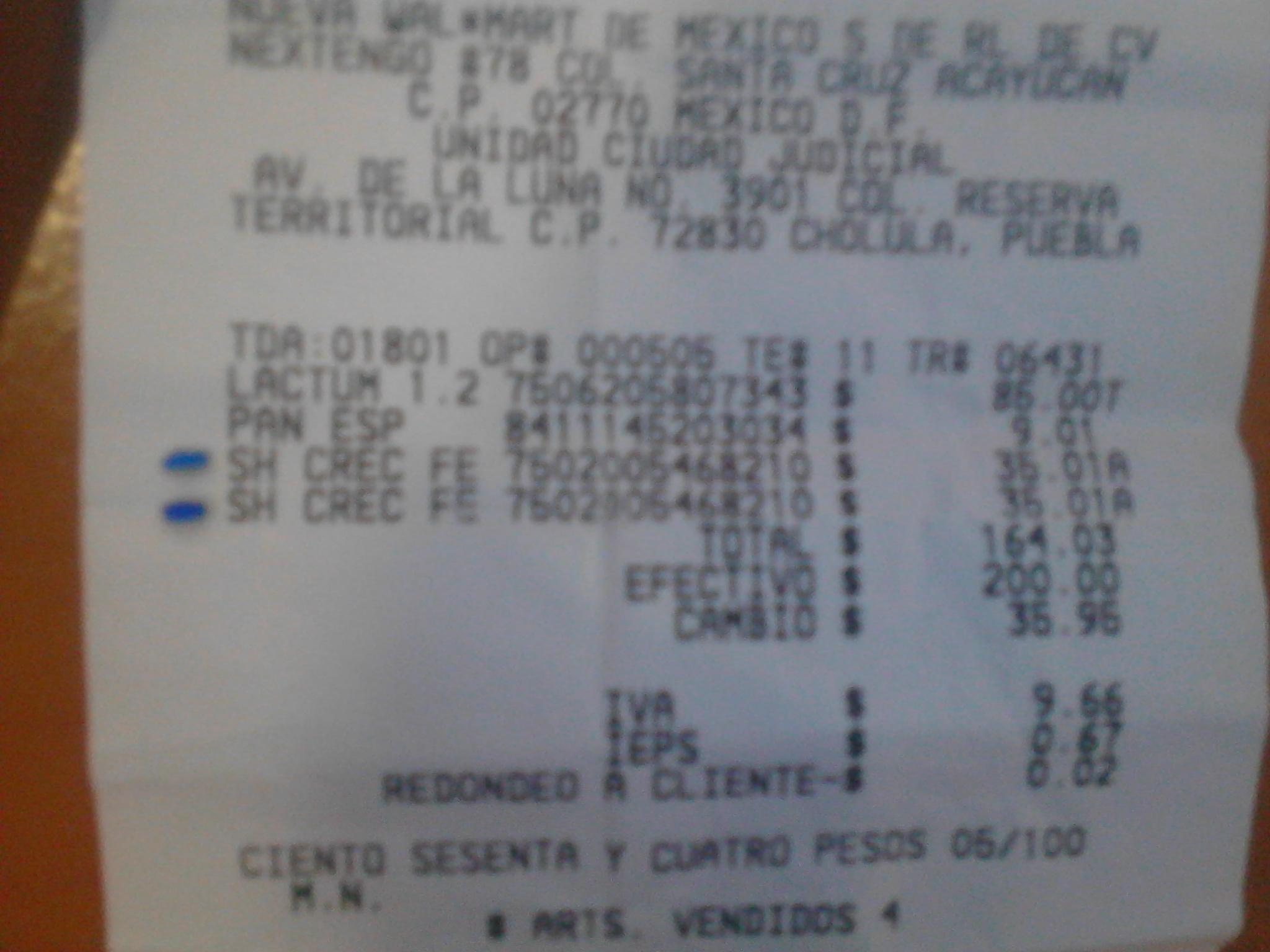 Walmart Ciudad Judical Puebla: Shampoo Cre-c Fem a $35.01
