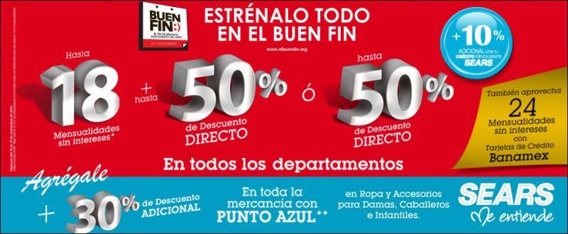 Ofertas del Buen Fin en Sears (actualizado)