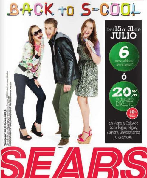 Sears: promoción de regreso a clases