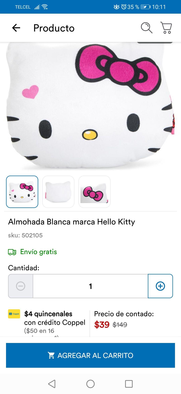 Coppel. Almohada de Hello kitty