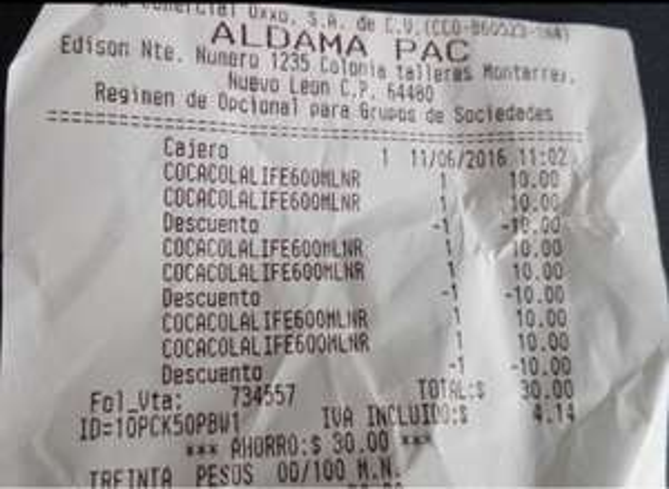 Oxxo Pachuca: Coca Cola life de 600ml 2 x $10