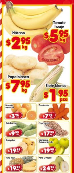 Frutas y Verduras en HEB: plátano $2.95, tomate $5.95 y más