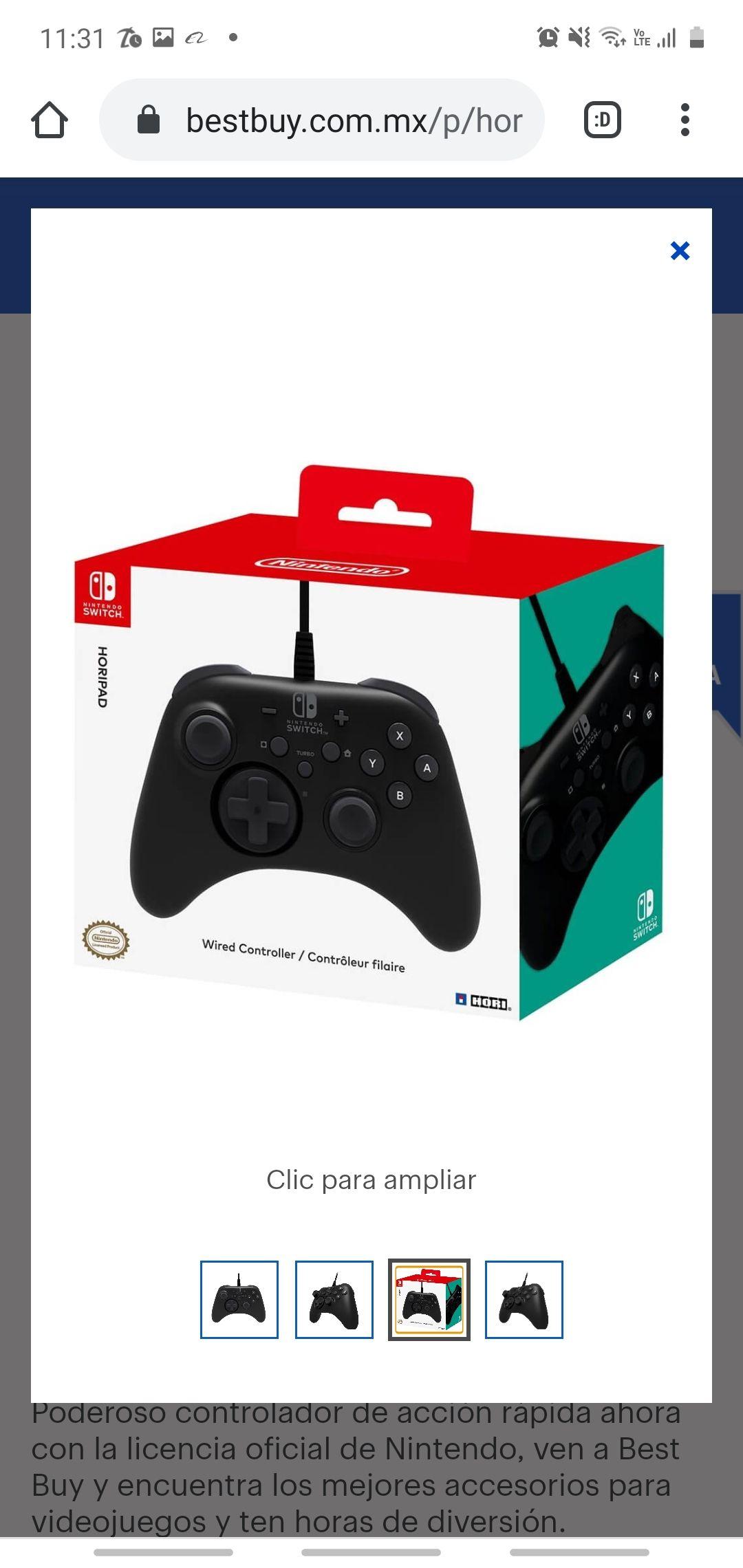 BEST BUY: Game pad para Nintendo Switch