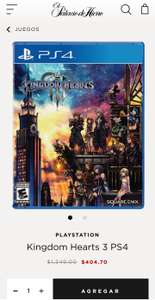 Palacio de Hierro Kingdom hearts ps4