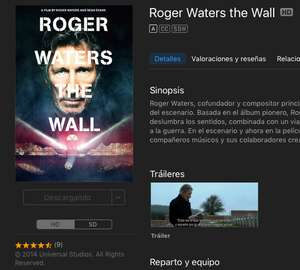 Roger Waters The Wall a 99.00 en iTunes