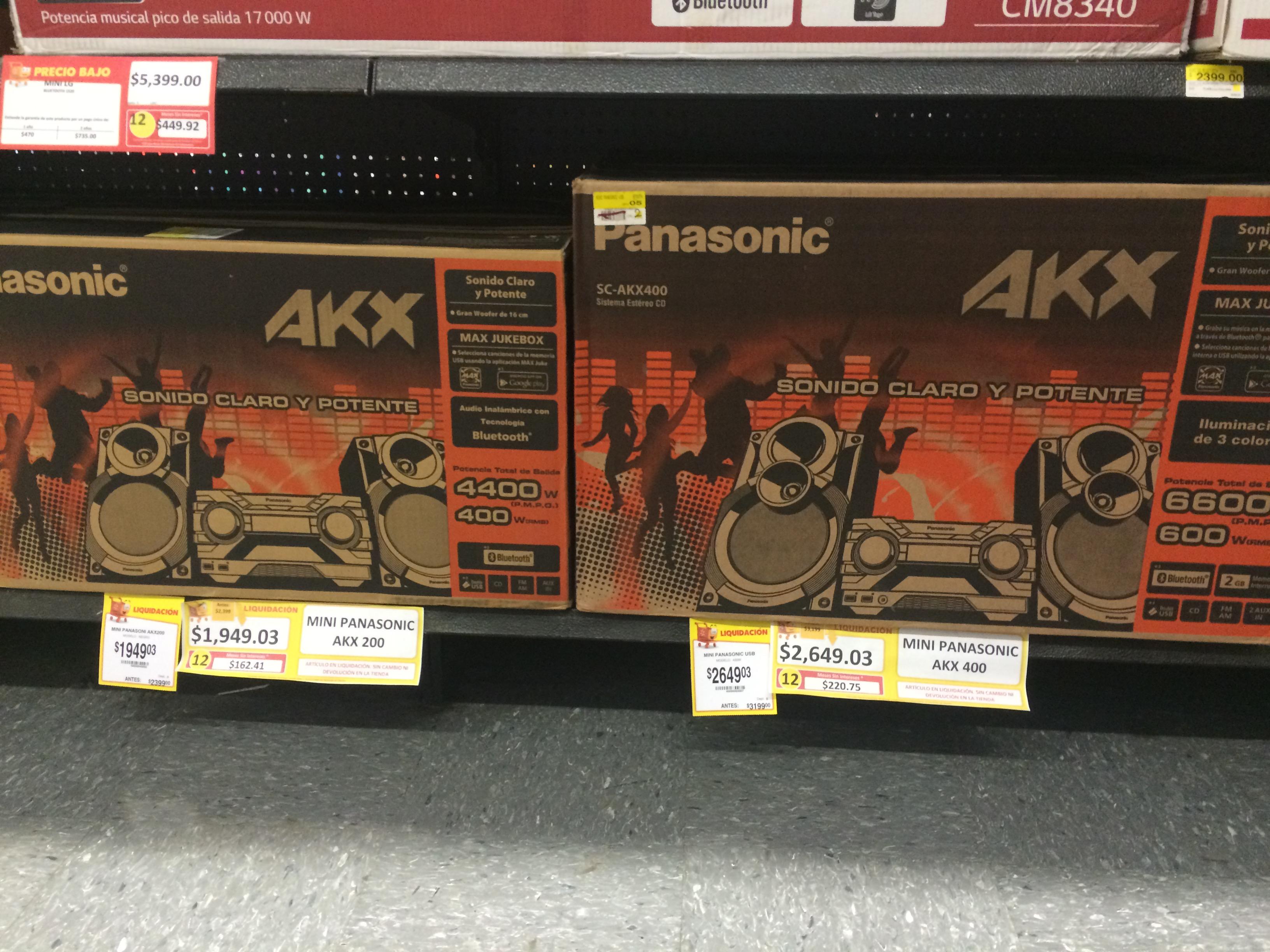 Walmart: Panasonic AKX200 a $1,949