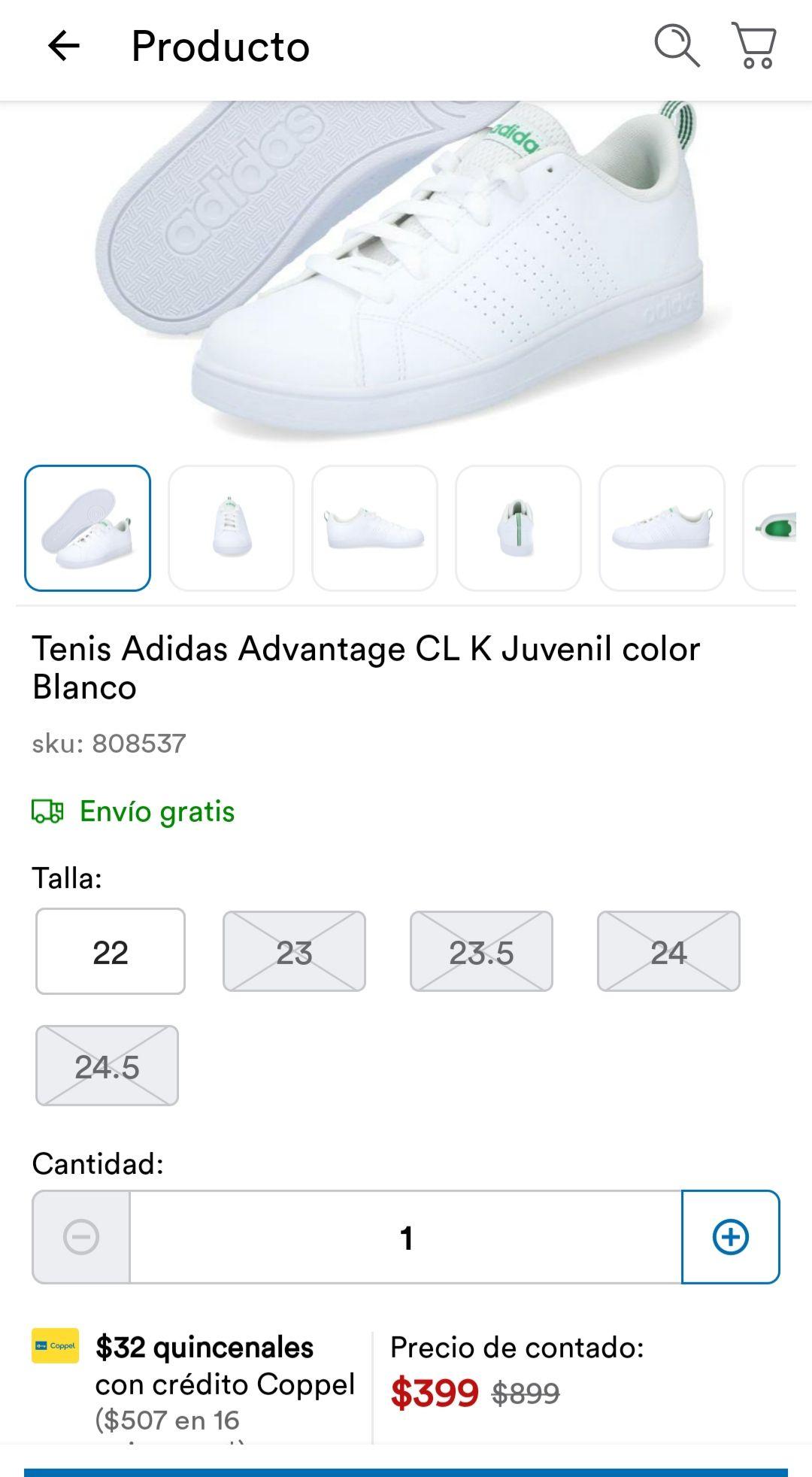 Coppel: Tenis Adidas Advantage