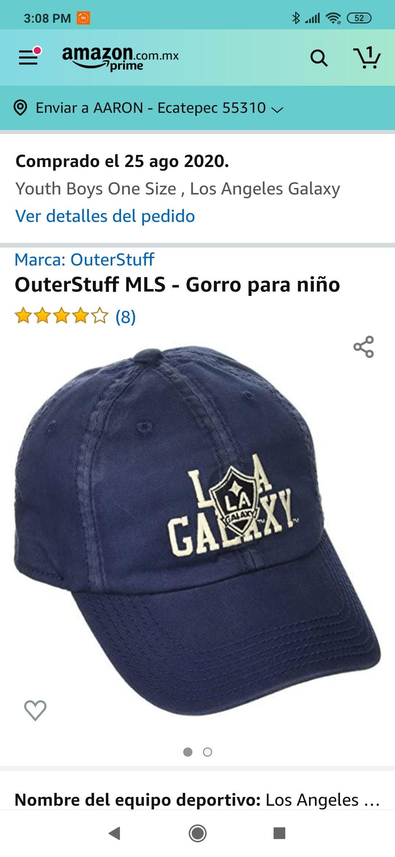 Amazon: Gorra Adidas de L.A. Galaxy Para Adolescente