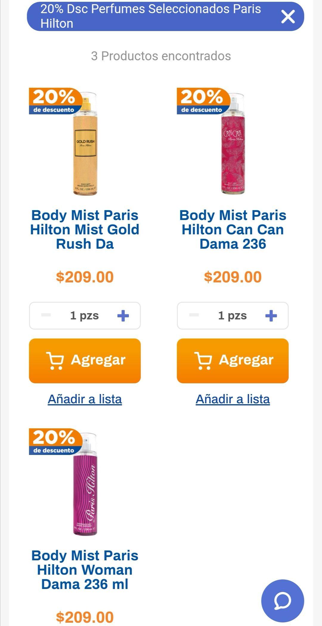 Chedraui: 20% de descuento en perfumes Paris Hilton seleccionados