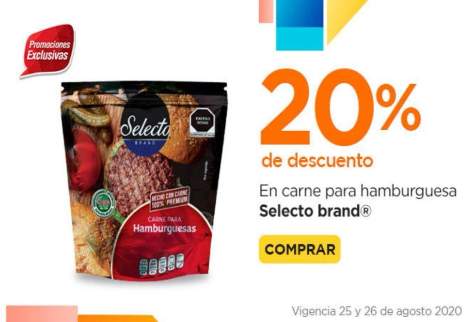 Chedraui: 20% de descuento en carne para hamburguesa Selecto Brand