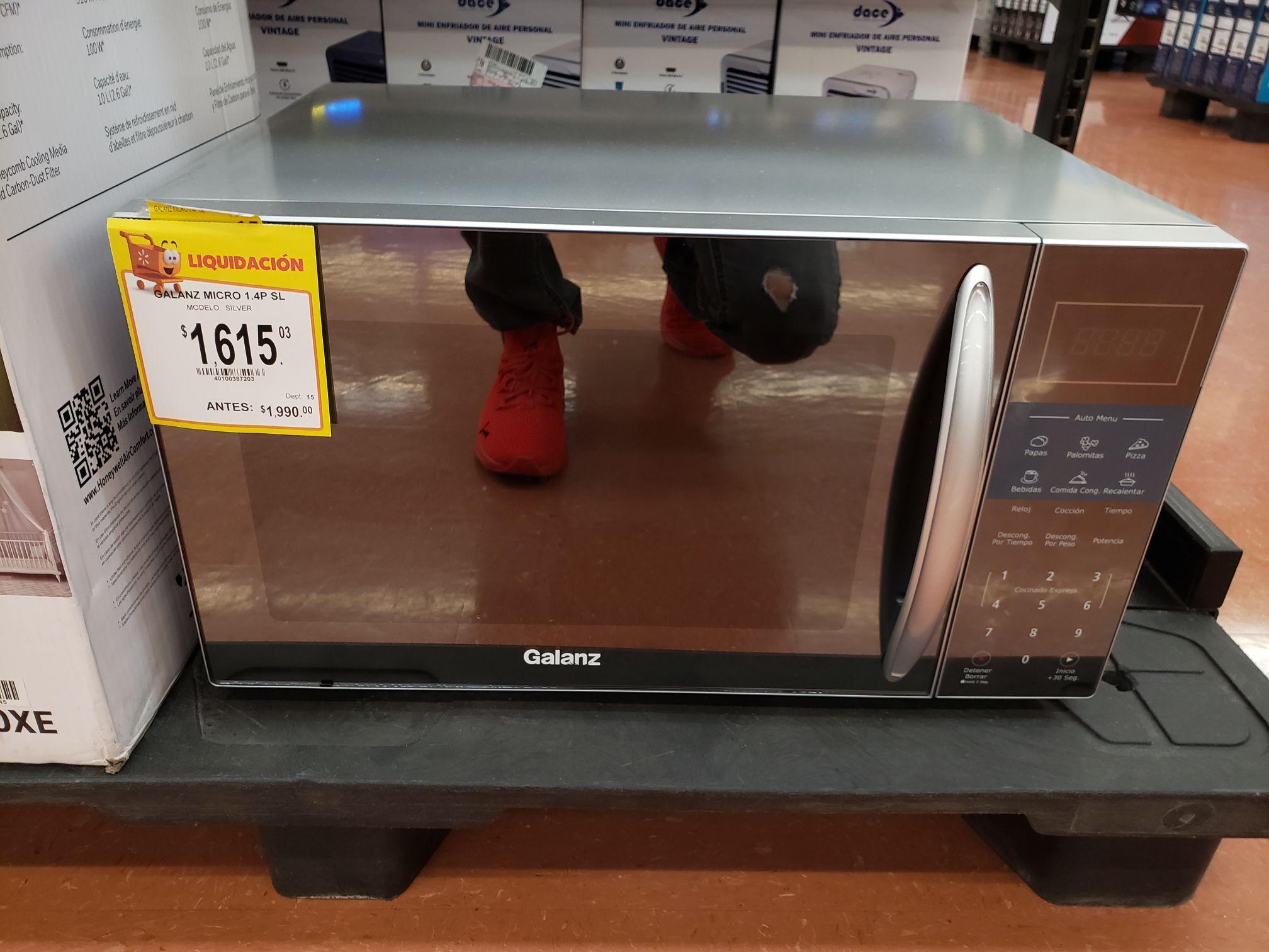 Walmart: Horno de microondas 1.4 pies Galanz