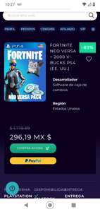 Cdkeys: FORTNITE NEO VERSA + 2000 V-BUCKS PS4 (EE. UU.)