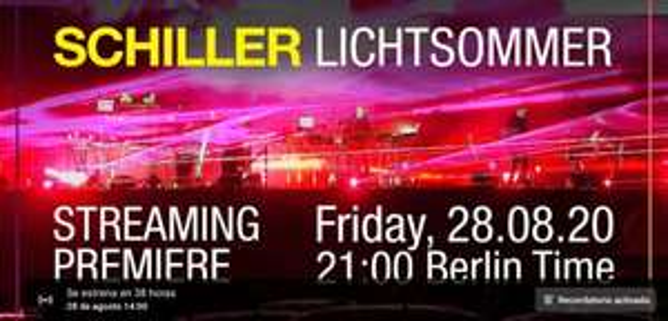 Streaming del Concierto de Schiller 'Lichtsommer'