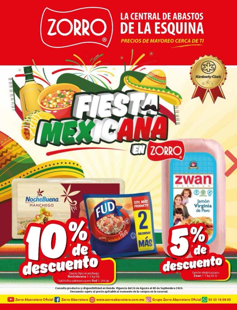 "Zorro: Folleto Quincenal ""Fiesta Mexicana en Zorro"" al Martes 8 de Septiembre"