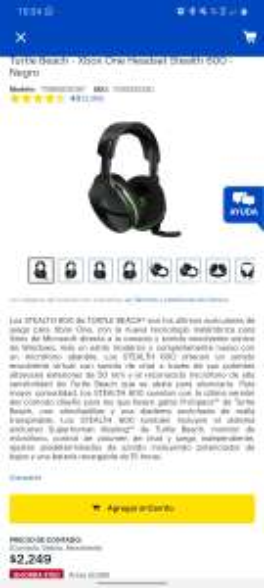 Best Buy: Audifonos inalambricos turtle beach 600 para pc y xbox