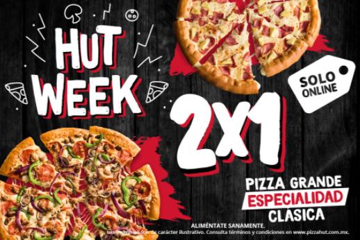 Pizza Hut: 2x1 en Pizzas grandes