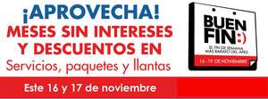 Ofertas del Buen Fin en Speedee, Michelin y National Car Rental