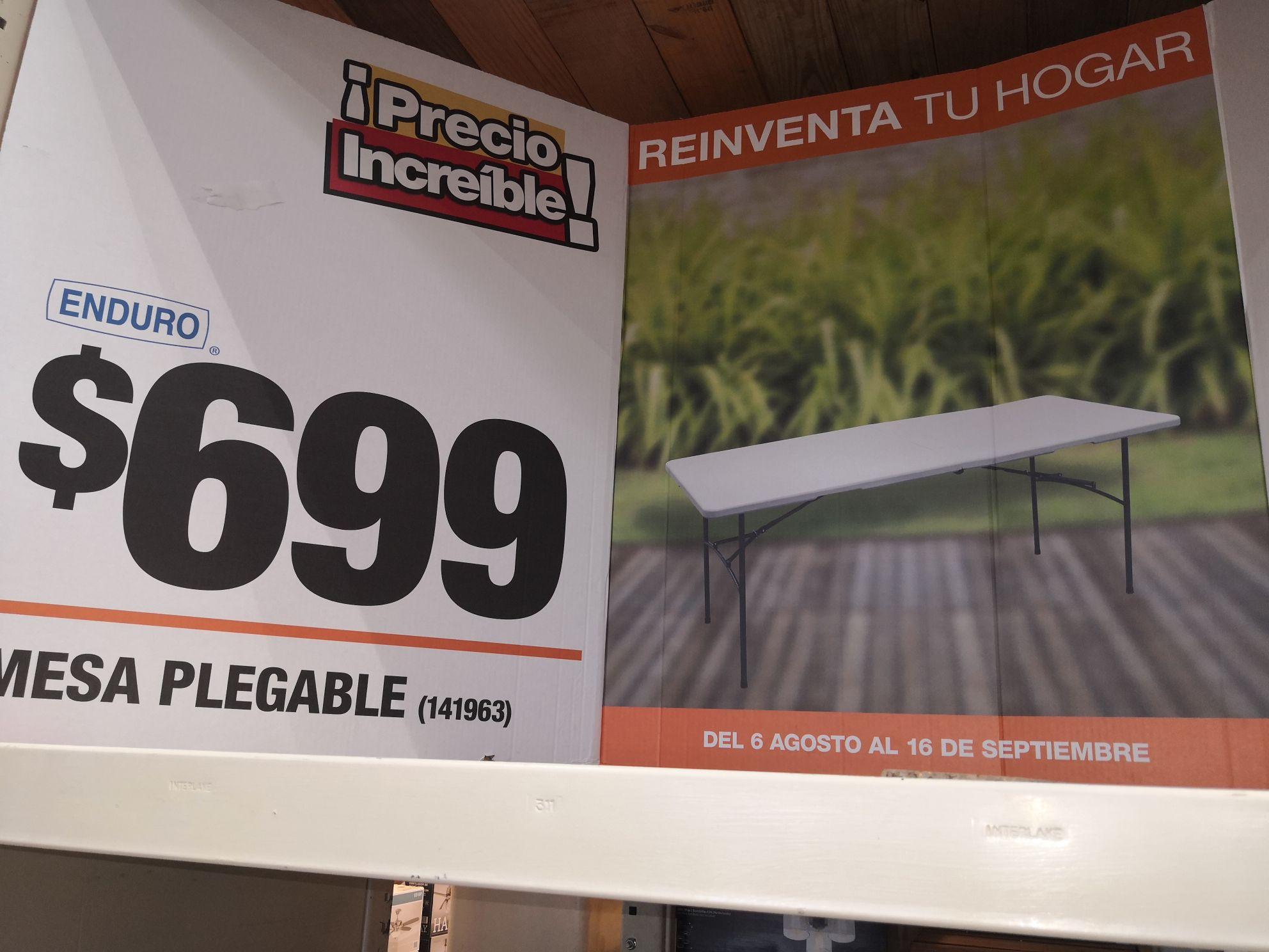 Home Depot: Mesa plegable