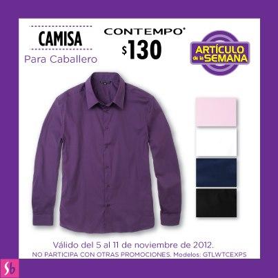 Artículo de la semana en Suburbia: camisa para caballero a $130