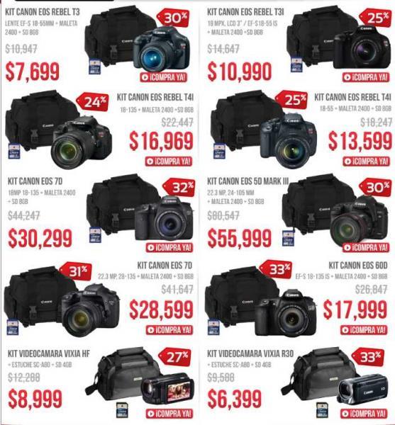 Ofertas del Buen Fin en Linio: cámaras profesionales y de video Canon