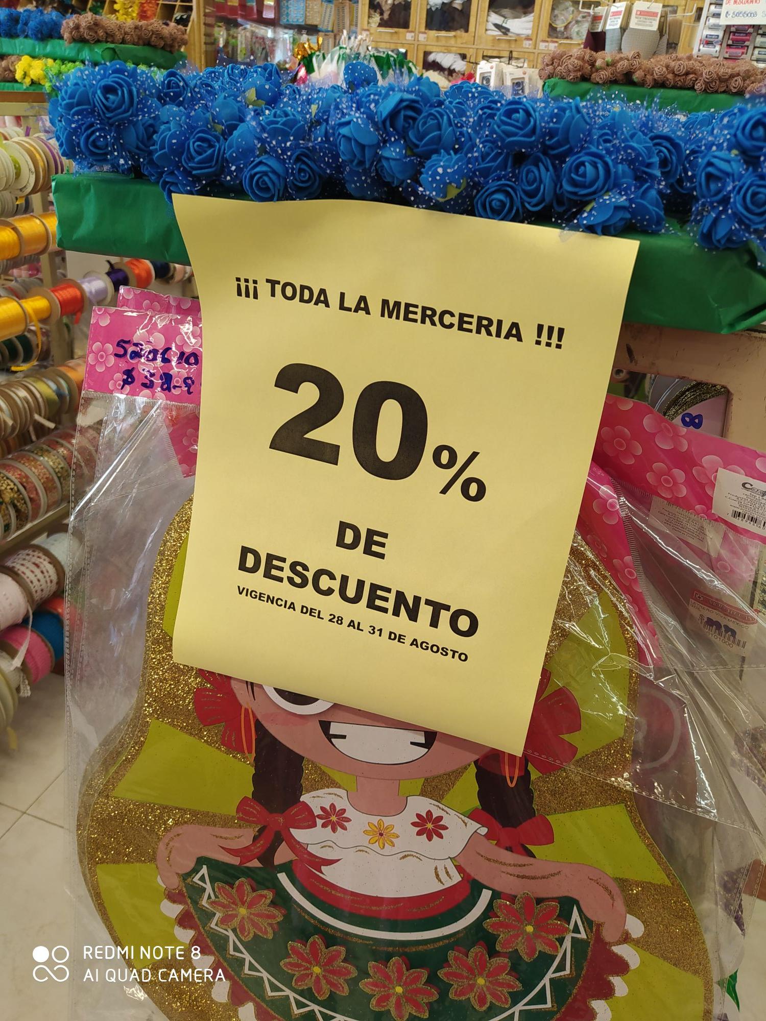 Modatelas: 20% De Descuento en Toda la MERCERIA