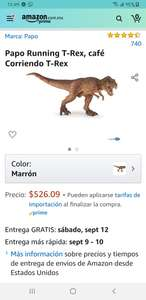 Amazon: Figura de T rex marca papo (color café)