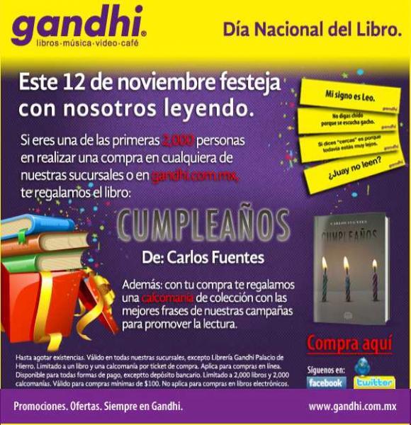 Gandhi: libro gratis a los primeros 2,000 clientes