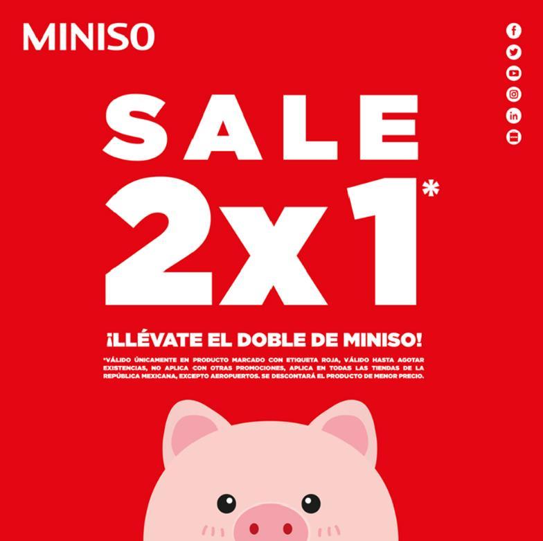 Miniso: 2x1 sale