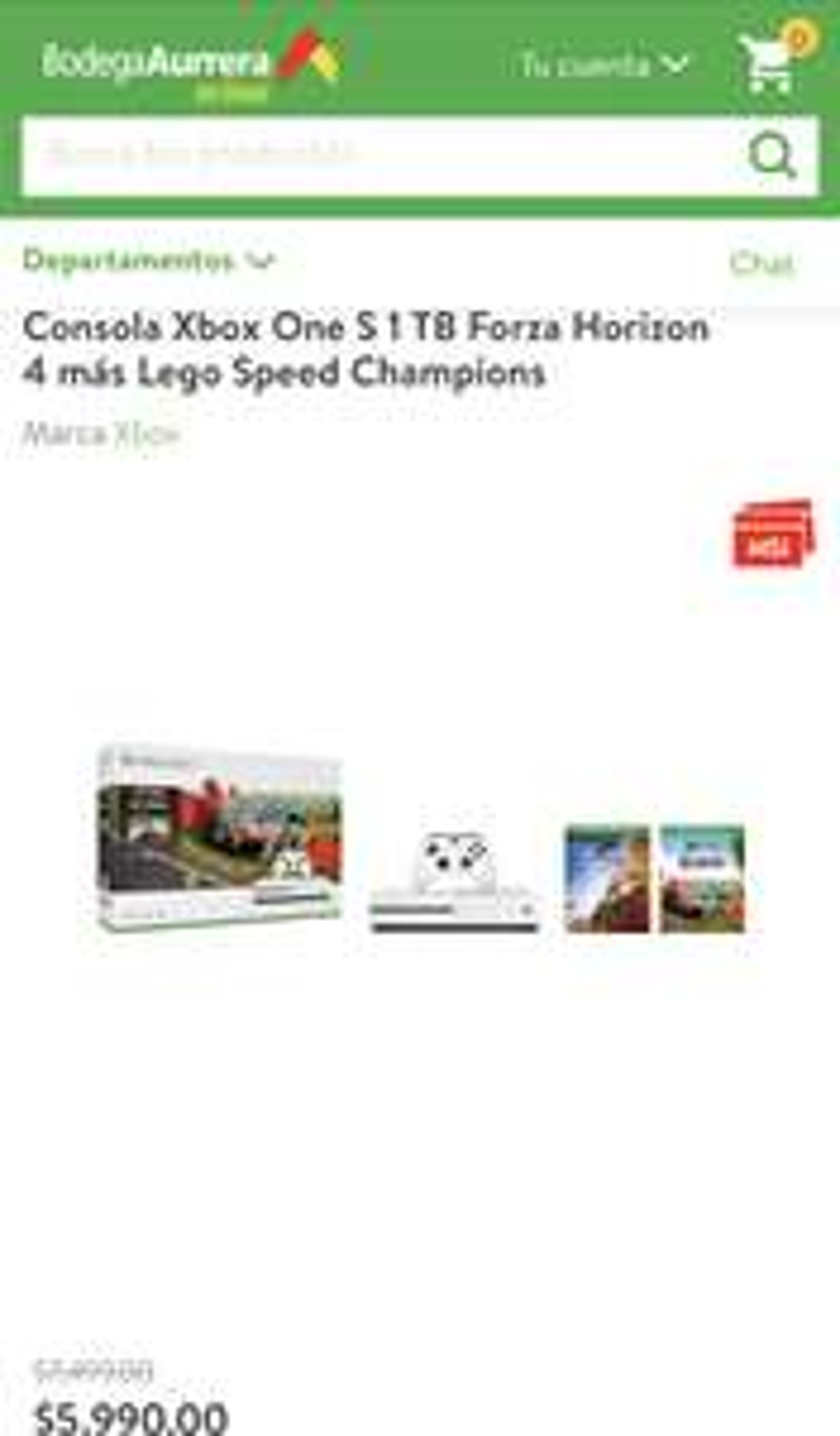 Bodega Aurrerá: Xbox One S 1 TB