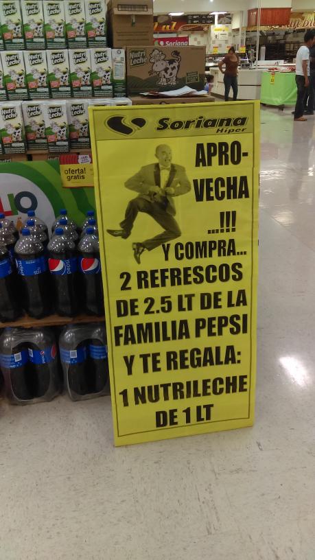 Soriana: Gratis Nutrileche 1L, en la compra de 2 refrescos de 2.5 o 3L / Gratis Pay de Queso, en la compra de Rosca.