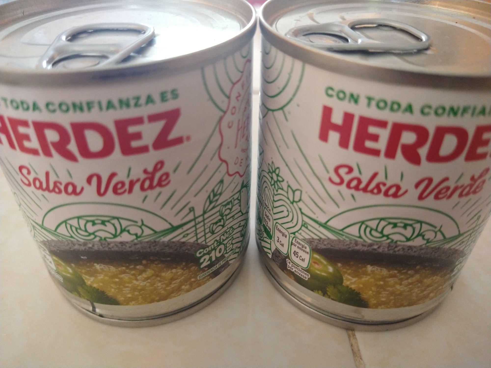 Bodega Aurrerá:Salsa verde Herdez 210grs