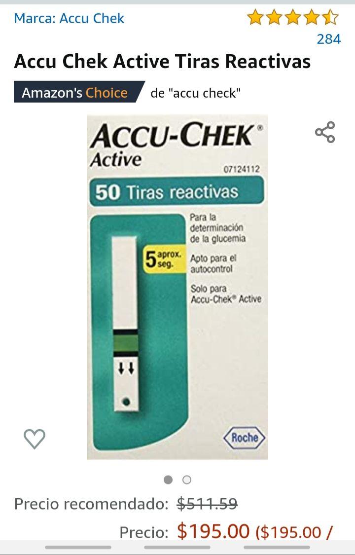 Amazon: Tiras reactivas accu- chek (50 pz)