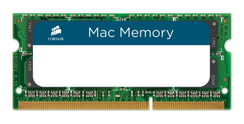 Cyberpuerta: Memoria RAM Corsair DDR3, 1333MHz, 8GB, CL9, Non-ECC, SO-DIMM, para Apple MacBook, iMac y Mac Mini