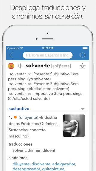 App Store: Diccionario Inglés-Español Completo De Word Magic Software (Precio normal $425.00).