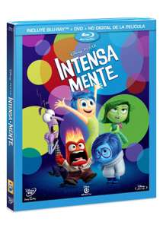 Amazon: Intensa-Mente. Trihíbrido (BR + DVD + CD) $179 y Un Gran Dinosaurio - Blu-ray 3D + Blu-ray $194
