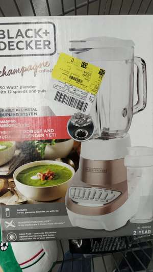 Walmart: Licuadora black+Decker champagne collection