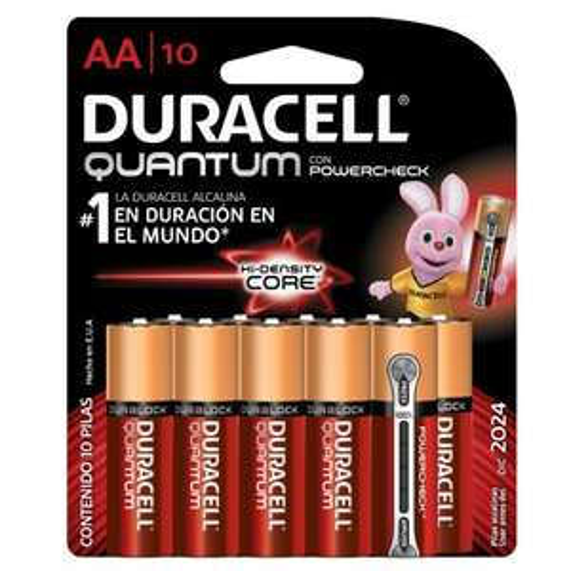 Amazon: Duracell Quantum Pilas AA, 10 pilas