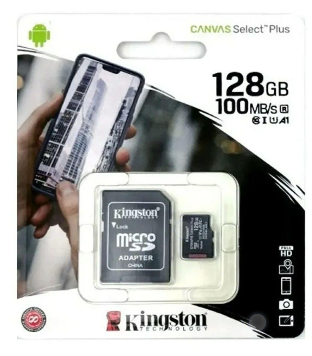 Tienda oficial de Blackpcs en Mercado LibreLibre: Micro Sd 128gb Kingston Canvas Select Plus C10 100r A1 Adp
