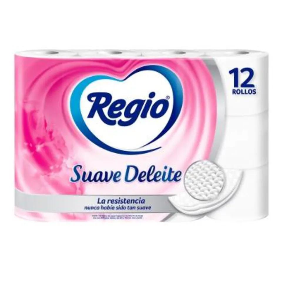 Walmart: Papel higiénico Regio suave deleite 12 rollos con 225 hojas dobles
