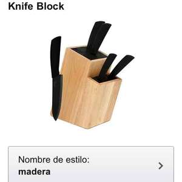 Amazon: cuchillos Melange mango negro 6 piezas a $279