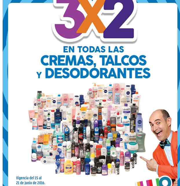 Promoción de Julio Regalado en Soriana y Comercial Mexicana: 3x2 desodorantes, cremas y talcos