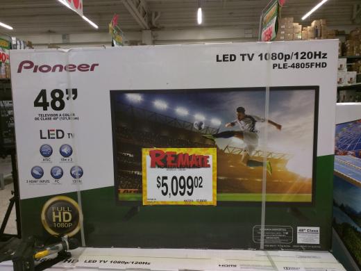 Bodega Aurrerá: pantalla de 48'' full HD Pioneer a $5,099.02