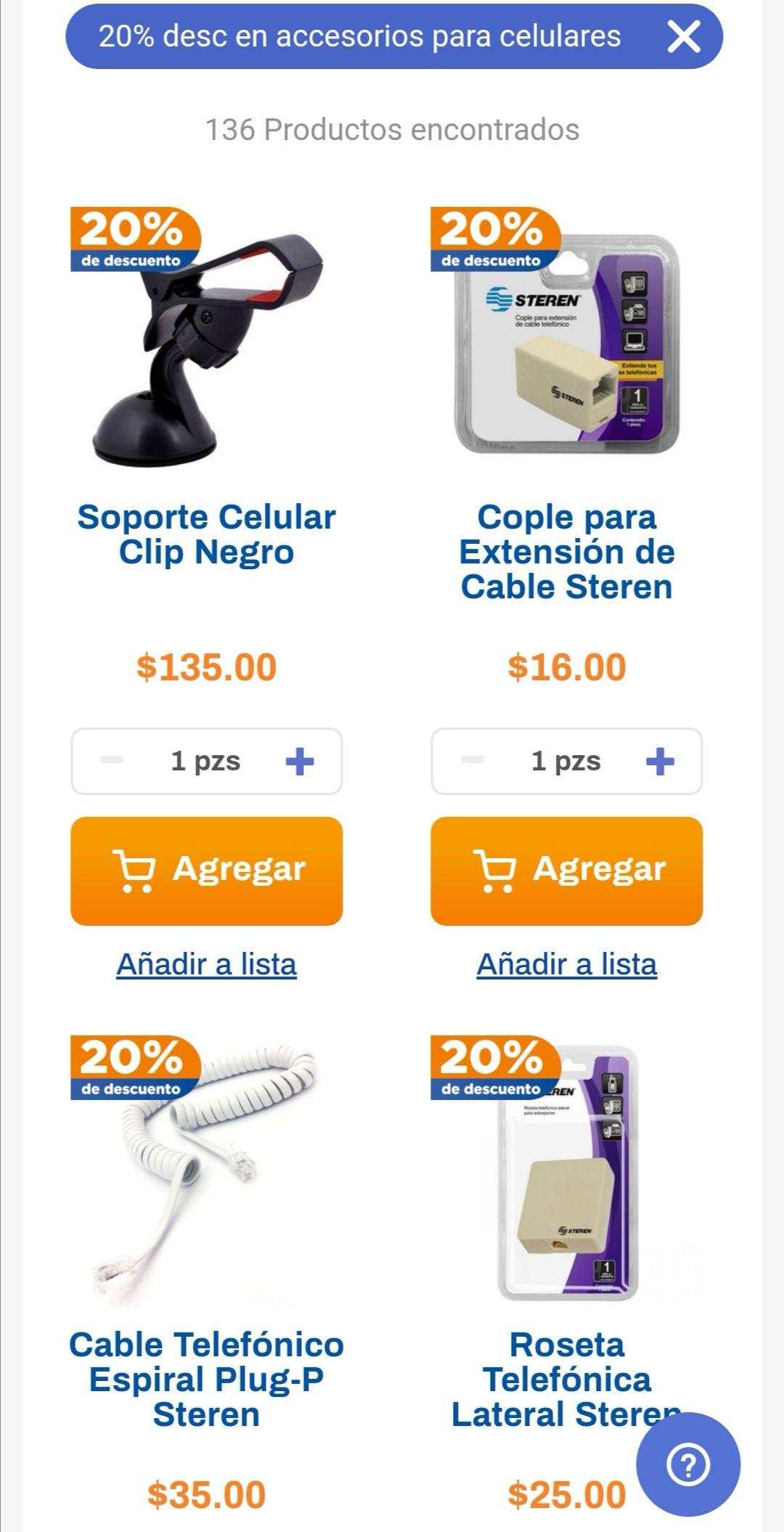 Chedraui: 20% de descuento en accesorios de telefonía celular y fija