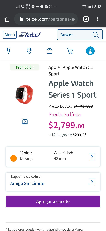 Telcel-Apple watch sport 1
