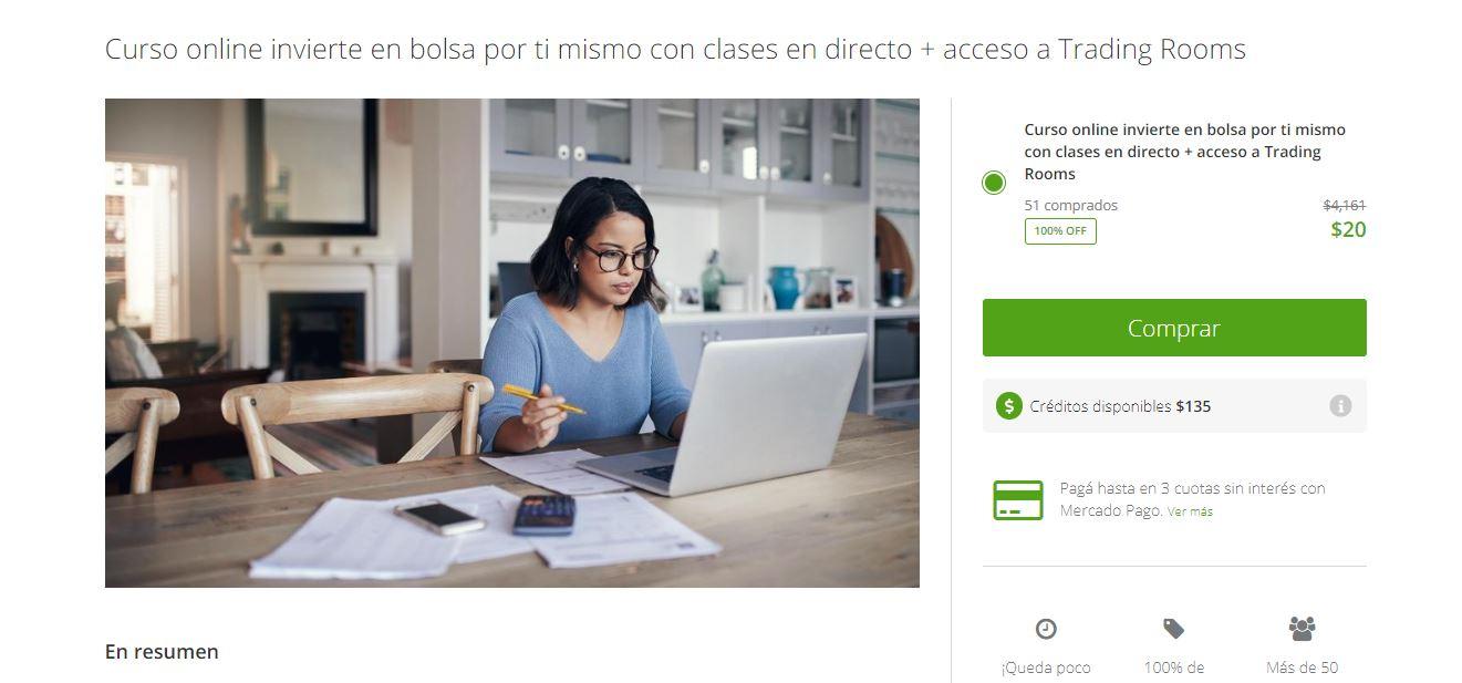 Pexie: Curso online invierte en bolsa por ti mismo con clases en directo + acceso a Trading Rooms